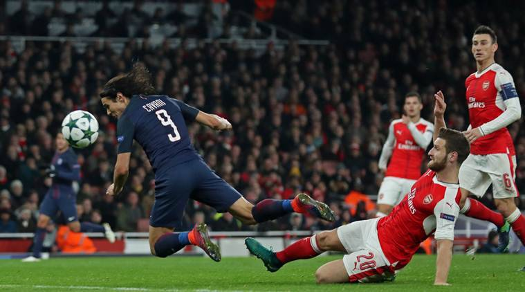 Champions League, UEFA Champions League, Edinson Cavani, Cavani, Arsenal, PSG, Arsenal vs PSG, football scores, football news, sports news