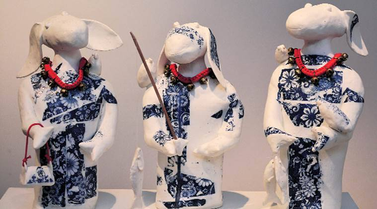 Ela Mukherjee. ceramic art, delhi ceramic art, Gallerie Nvya, sculptures, Gallerie Nvya exhibition, india news