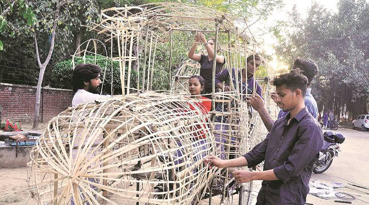 Chandigarh carnival, floats, cartoon characters, exhibition, chandigarh culture, lifestyle news, arts and culture, latest news, indian express