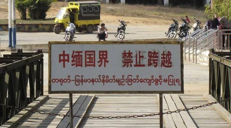 myanmar's china border, myanmar china, chinese, military, army, government, troops, ethnic minority rebels, kokang border region, suu kyi, civilians, police, un, united nations, beijing, ceasefire, indian express news