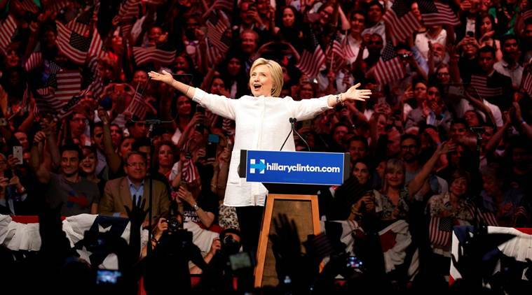 "Democratic U.S. presidential candidate Hillary Clinton arrives to speak during her California primary night rally held in the Brooklyn borough of New York, U.S., June 7, 2016. REUTERS/Lucas Jackson/File Photo FROM THE FILES PACKAGE ""THE CANDIDATES"" - SEARCH CANDIDATES FILES FOR ALL 90 IMAGES"