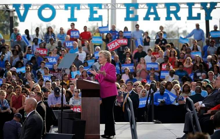 Hillary Clinton, Clinton campaign, Barack obama, Obamas, first lady Michelle Obama, US elections 2016, US presidential elections, Donald Trump, republican trump, Hillary Clinton, democratic clinton, US presidential candidates, world news, indian express