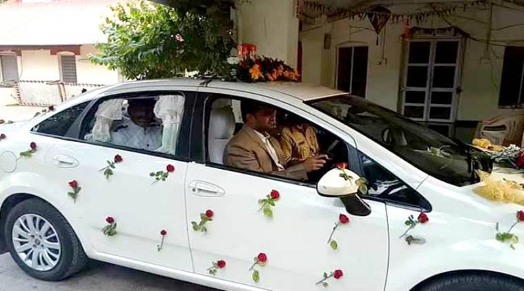 Collector drives chauffeur to office/ Screenshot: NDTV