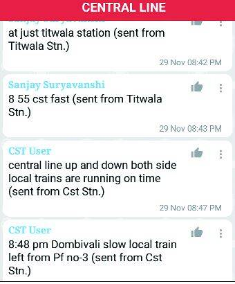 A conversation between a commuter and a CST user.