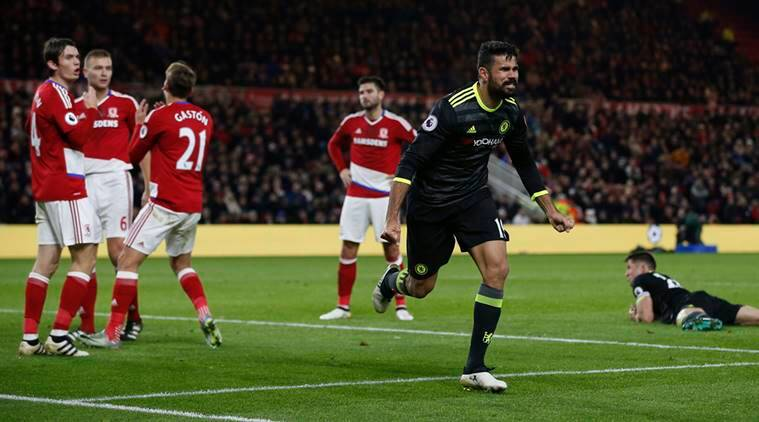 Diego Costa, Costa, Chelsea, Chelsea football club, Middlesbrough, Middlesbrough vs Chelsea, english premier league, epl, football scores, epl scores, football news, sports news