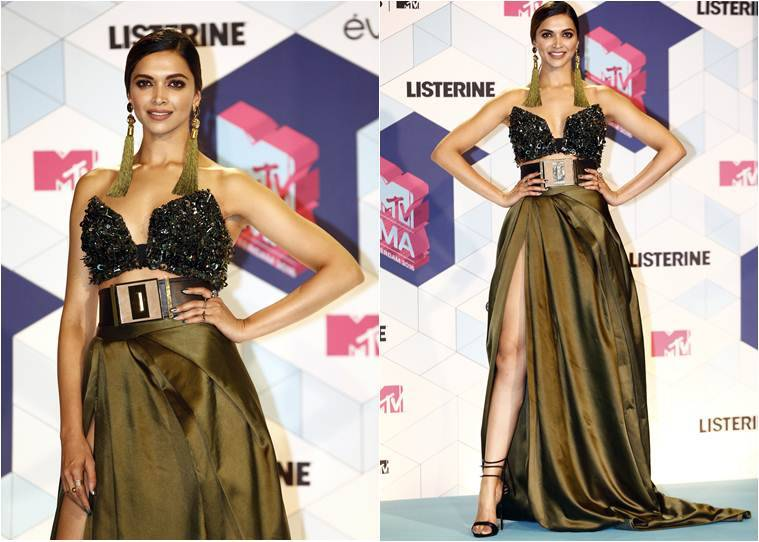 Deepika Padukone poses for photographers backstage, at the MTV European Music Awards 2016 in Rotterdam, Netherlands. (source: AP)