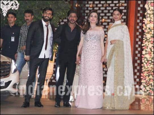 Deepika Padukone, Ranveer Singh, shah rukh khan