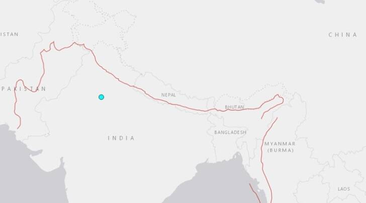 As per USGS, the earthquake of magnitude 4.4 magnitude was felt 13 kilometers southeast of Bawal in Haryana.