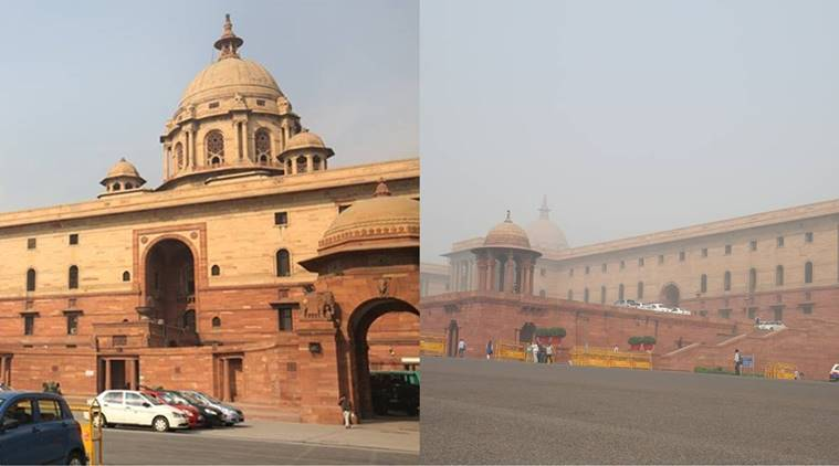 delhi, delhi pollution, delhi air, Delhi air pollution, delhi smog, delhi monuments, pollution news, Delhi news, India news, latest news, indian express