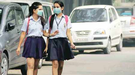 delhi pollution, pollution, delhi education, delhi smog, air pollution, delhi schools, education news, indian express,