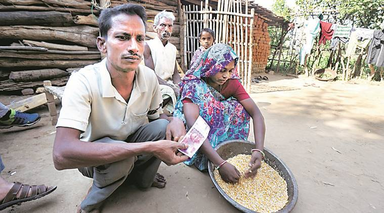 Demonetisation, demonetisation effects,demonetisation poors, demonetisation GUjarat, Gujarat villages, Chhagan Hathila  Dahod, Gujarat Dahod, Currency demonetisation, Cash, Cashless economy, cash crunch, Rs 500 notes ban, RS 1,000 notes ban, Currency demonetisation, india news barter system, demonetisation barter system, indian express news