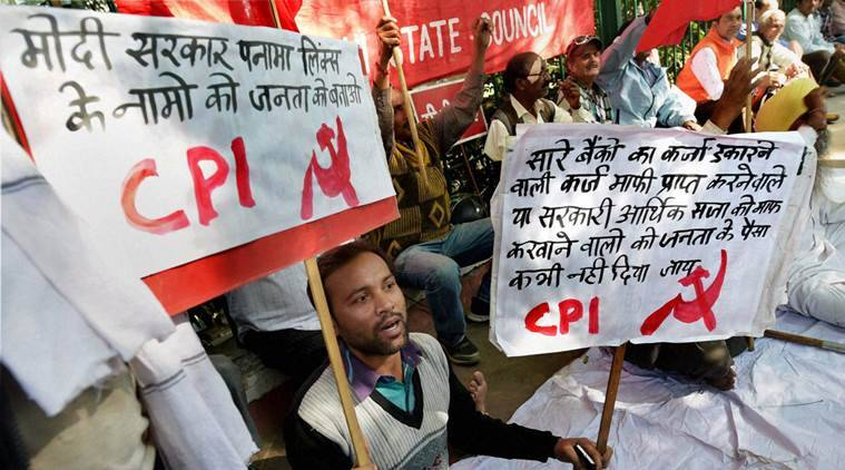 Demonetisation, Narendra modi government, demonetisation protest, protests, political parties protest, political parties unite, winter session of parliament. protest outside parliament, india news, indian express news