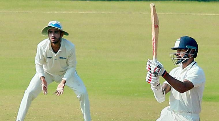 Wayanad: Delhi's Shikhar Dhawan in action against Rajasthan in the Ranji Trophy match at Krishnagiri Cricket Stadium in Wayanad on Thursday. PTI Photo(PTI11_24_2016_000242A)