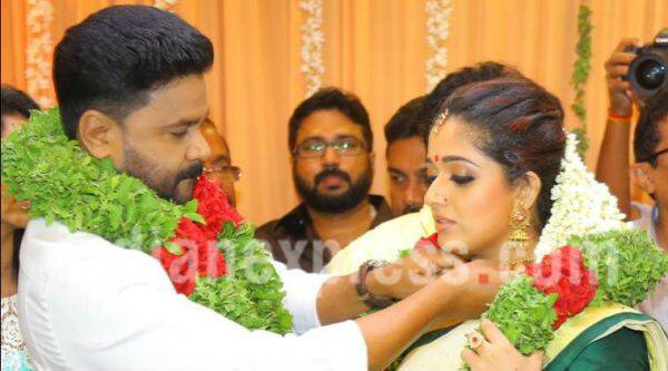 Malayalam stars Dileep and Kavya Madhavan got married in Kochi