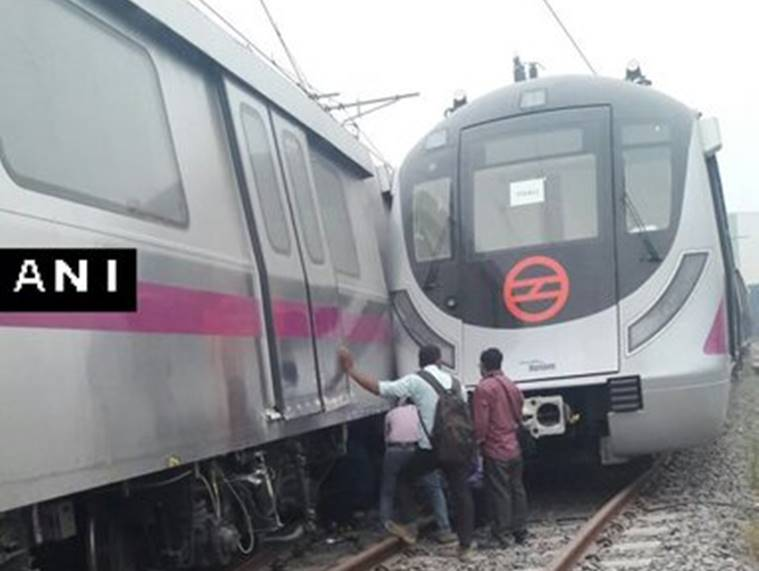 delhi metro, delhi metro accident, magenta line, driverless metro trains, new metro line, magenta line trial run, metro train accident