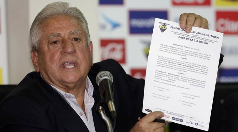 Luis Chiriboga, Chiriboga, Ecuador football president, Ecuador football, fifa corruption, fifa corruption arrests, football, football news, sports, sports news