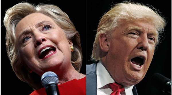 US Presidential elections 2016, US elections 2016, Donald Trump, Hillary Clinton, US presidential election voting day, US election results, Trump-Clinton, US news, Trump-Clinton-Indian express, US presidential elections