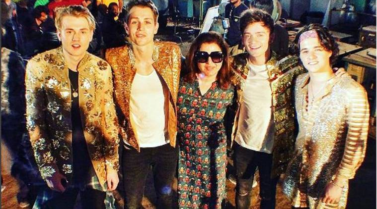 Farah Khan, Farah Khan news, Farah Khan filmmaker, The Vamps, The Vamps news, The Vamps farah khan, The Vamps band, entertainment news, indian express, indian express news
