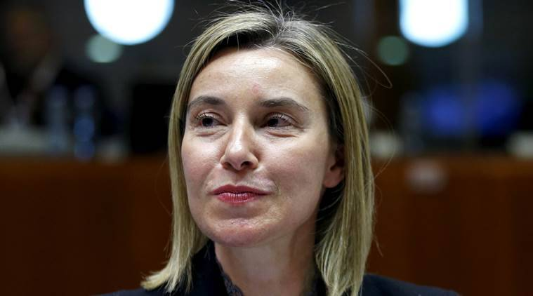 European Union foreign policy chief Federica Mogherini attends a meeting of European Union foreign and defence ministers at the EU Council in Brussels, Belgium, May 18, 2015.    REUTERS/Francois Lenoir/File Photo