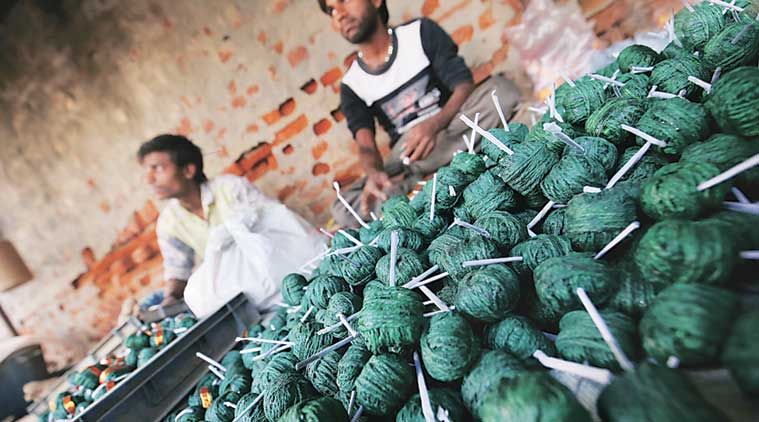 firecracker vendors delhi ncr, central pollution control board, firecracker pollution delhi ncr, patakhe godown delhi ncr, firecrackers supreme court order, india news, indian express