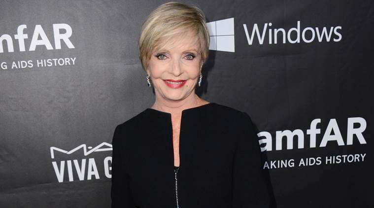 When Florence Henderson had arrived at the 2014 amfAR Inspiration Gala at Milk Studios in Los Angeles.