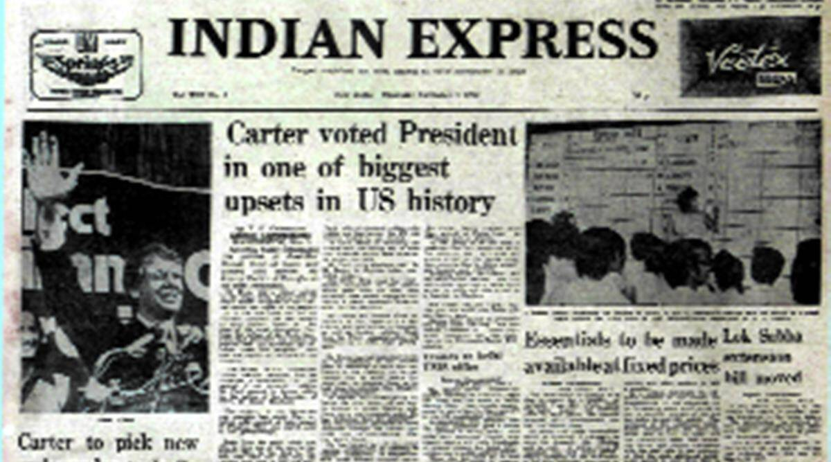 forty years ago, indian express 40 years ago, november 1976, jimmy carter, lok sabha term extension, india news