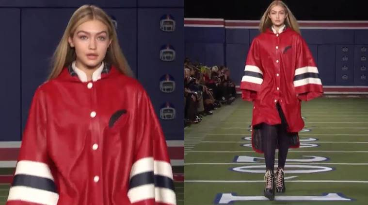 Gigi Hadid during the Tommy Hilfiger's 2015 show. (Source: Instagram/Tommy Hilfiger)