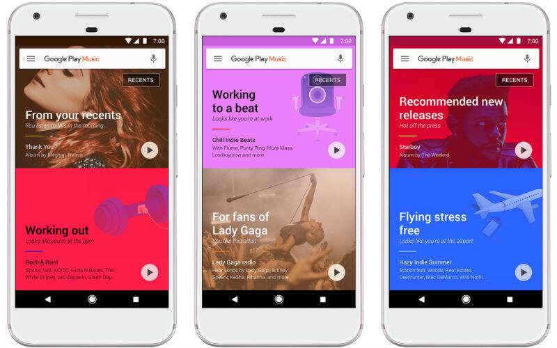 Google, Google Play Music, Artificial Intelligence, machine learning, Google Play Music machine learning, Google Play Music songs suggestion, Play Music new design, Google Play Store, apps, smartphones, technology, technology news