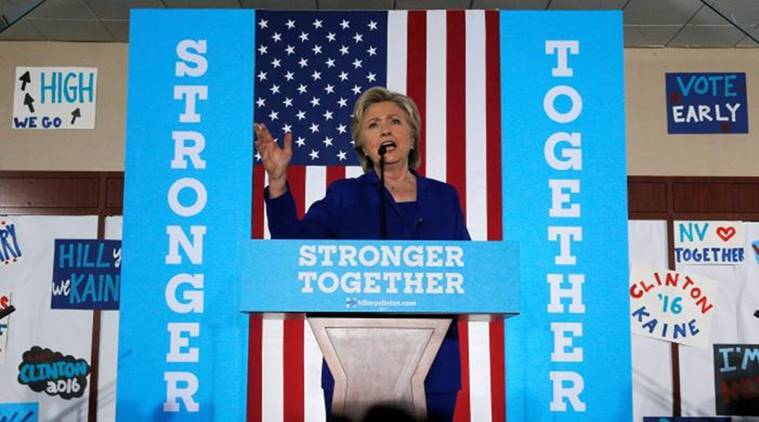 hillary clinton, us economy, clinton, clinton campaign, us elections update, us elections 2016, us elections news, world news, indian express, US Elections 2016, US Presidential elections, Hillary clinton, Donald trump, white house race, financial markets, world market, business, United States, World news