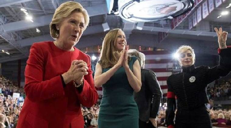 US election, hillary clinton, lady gaga, lady gaga hillary clinton, midnight polling news, US midnight polling, US election news, US election news, US news, Donald Trump, Latestnews, World news, International news