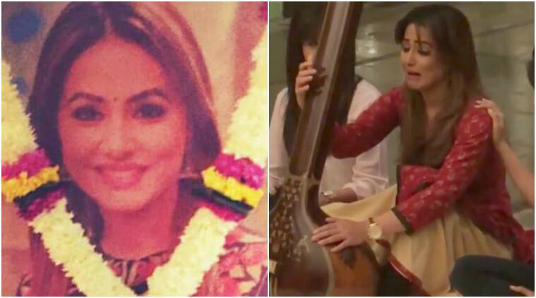 hina khan akshara, hina khan news, hina khan wraps up shoot, hina khan quits yeh rishta kya kehlata hai, hina khan last day shoot, hina khan cries, hina khan breaks down, hina khan killed yeh rishta kya kehlata hai, hina khan dies akshara, akshara dies, akshara killed, akshara leaves yeh rishta, hina khan news, hina khan updates, yeh rishta kya kehlata hai news, yeh rishta kya kehlata updates, television news, indian express, indian express news