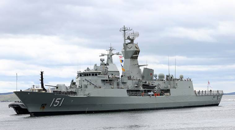 HMAS Arunta, Australian Navy vessel HMAS Arunta, Australian Navy ANZAC class Frigate, Goa Naval Area and HMAS Arunta at Naval Base Hansa, India news, Latest news, Latest news