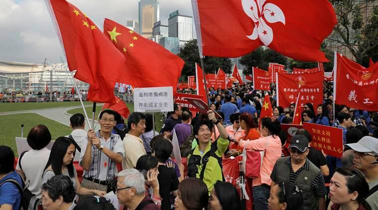 China, hong kong, pro-beijing rally, hong kong rally, hong kong protests, pro-independence legislators, world news, indian express