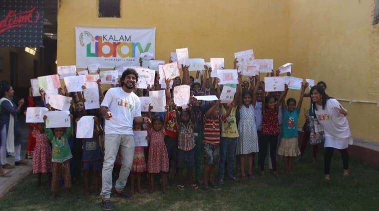 children's day, nitin soni, curly poet, kalam library, kalam initiative, dr shrijit pal singh, nitin soni author, apj abdul kalam, kalam shillong, libraries in delhi, nitin soni novels, nitin soni peoms, education news, indian express