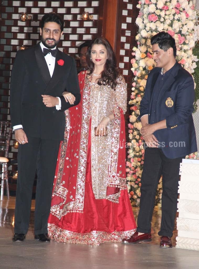 Aishwarya Rai Bachchan in Manish Malhotra. (Source: Varinder Chawla)