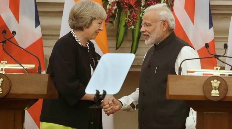 india, india uk, theresa may, india uk fta, free trade agreement, india uk free trade agreement, india news, indian express,