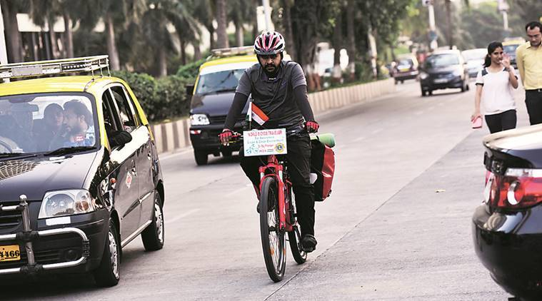 Ayurveda doctor pedals across India, Raj Phaden, save the environment, India news, Latest news, India news, India Environment news, Environment protection news
