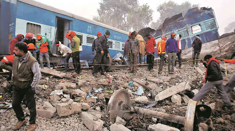 indore-patna express, train derails, train derailment, insurance money, insurance, 78 passengers, eligible, insurance eligibility, kanpur train accident, train mishap, india news, indian express