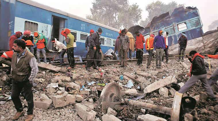 indore-patna express, train derails, train derailment, insurance money, insurance, 78 passengers, eligible, insurance eligibility, kanpur train accident, train mishap, india news, indian express