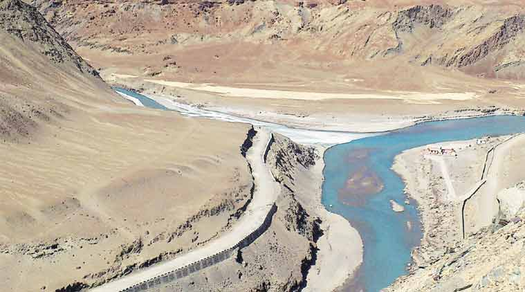 The Indus Water Treaty of 1960 allocates the waters of three rivers of the Indus basin to India and of the other three to Pakistan.