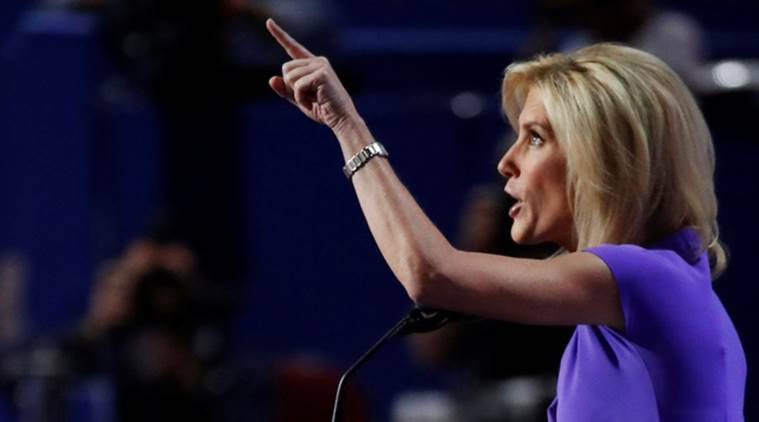 FILE PHOTO: Talk show host Laura Ingraham speaks at the Republican National Convention in Cleveland, Ohio, U.S. July 20, 2016.   REUTERS/Jim Young/File Photo