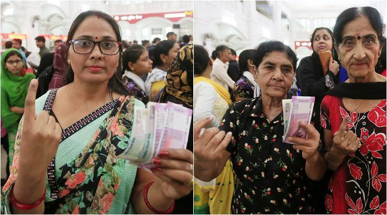 demonetisation, indelible ink, indelible inked selfies, inked selfies, money exchange, sbi banks indelible ink, indian express, indian express news