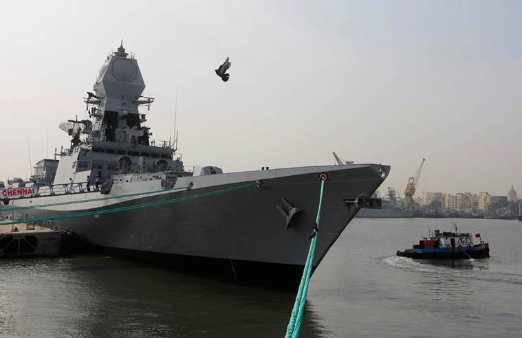 Manohar Parrikar, INS Chennai, Kolkata class, Defence Minister Manohar Parrikar, India-INS Chennai, INS Chennai-missile destroyers, India news, Indian Express