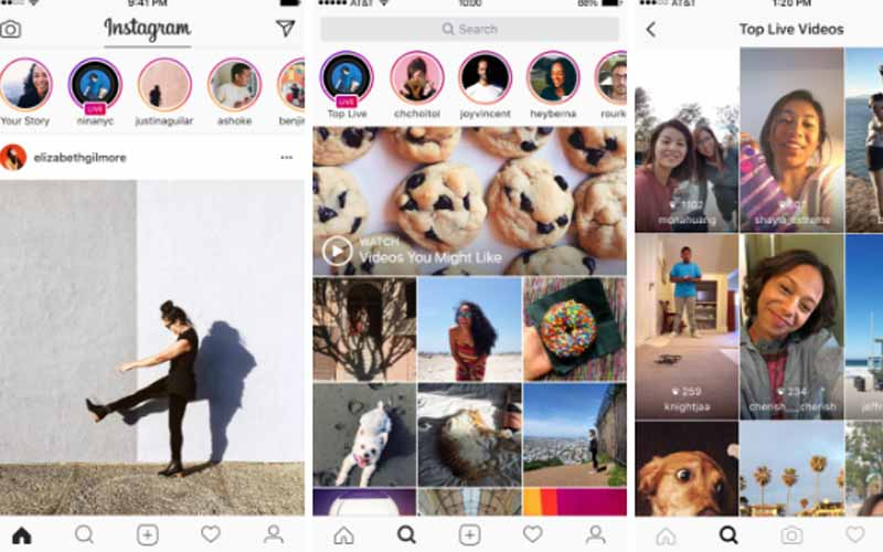 Instagram starts 'Live' video; clones Snapchat with 'disappearing' photos