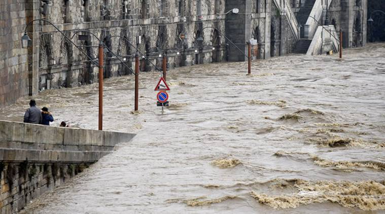 Italy, Italy flood, italy river Po, River Po, River Po flood, Italy flood death, Italy flood damage, world news, indian express news