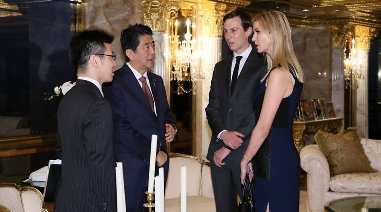shinzo abe, pm abe, abe trump, donald trump, trump president, ivanka trump, trump news, indian express,