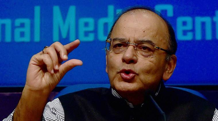 New Delhi: Union Finance Minister Arun Jaitley addresses media at the National Media center, in New Delhi on Wednesday. PTI Photo by Manvender Vashist(PTI11_9_2016_000220B)