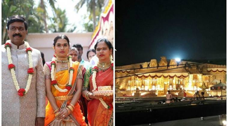 Gali Janardhana Reddy's daughter's wedding is a grand affair/ Twitter: The Newsminute