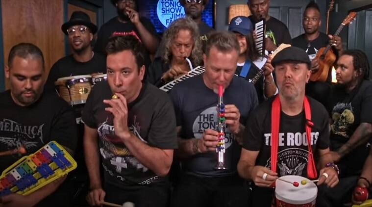 Metallica isn't metal anymore. At least not here in this video with Jimmy Fallon and The Roots.
