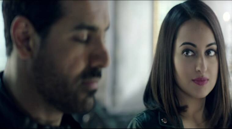 John Abraham and Sonakshi Sinha shows their sensuous side in Koi Ishaara which also showcases the lighter side of the tough RAW officers as they are seen getting romantic.